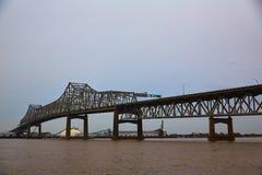 Río de Luisiana Horace Wilkinson Bridge Mississippi imágenes de archivo libres de regalías