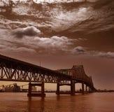 Río de Luisiana Horace Wilkinson Bridge Mississippi foto de archivo