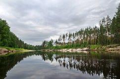 Río de Lukh (Rusia) Fotografía de archivo libre de regalías