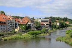 Río de Lusatian Neisse en Görlitz Fotografía de archivo libre de regalías