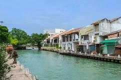 Río de Malaca Fotos de archivo libres de regalías