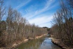 Río de Mangfall en la primavera temprana Fotografía de archivo libre de regalías