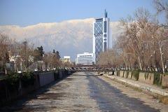 Río de Mapocho, Santiago Imagen de archivo
