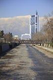 Río de Mapocho, Santiago Fotos de archivo libres de regalías