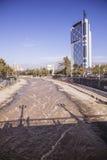 Río de Mapocho, Santiago de Chile Fotografía de archivo