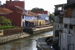 Río de Melaka Imagenes de archivo