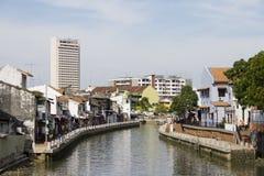 Río de Melaka Foto de archivo