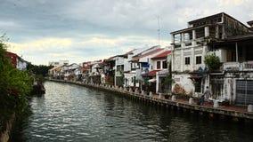 Río de Melaka Fotos de archivo