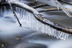 Río de Miraflores en invierno imagenes de archivo
