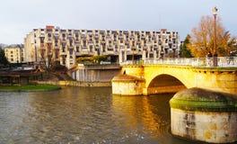 Río de Mosela, Metz Imagen de archivo