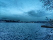 Río de Moskva Imágenes de archivo libres de regalías