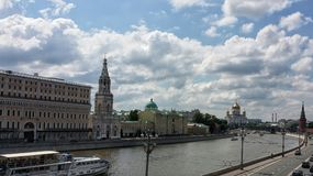 Río de Moskva Imagen de archivo libre de regalías