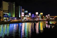 Río de Naka en Fukuoka Imagenes de archivo