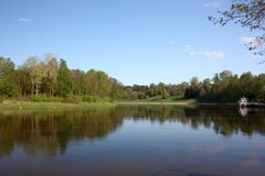 Río de Neman en Druskininkai Imágenes de archivo libres de regalías