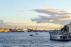 Río de Neva fotos de archivo libres de regalías