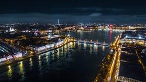 Río de Neva en St Petersburg Imagen de archivo libre de regalías