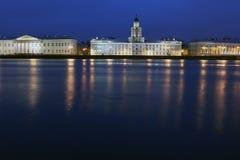 Río de Neva, puente del palacio, St Petersburg, Russi Imagen de archivo libre de regalías