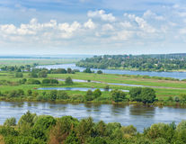 Río de Oka de la visión Rusia central Fotografía de archivo