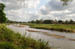 Río de Olifants, parque de Kruger, Suráfrica Foto de archivo libre de regalías