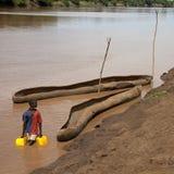 Río de Omo Fotografía de archivo libre de regalías
