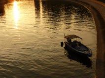 Río de oro por puesta del sol en Hong Kong Imagenes de archivo