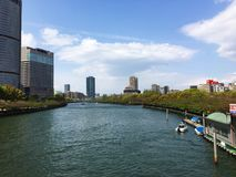 Río de Osaka foto de archivo