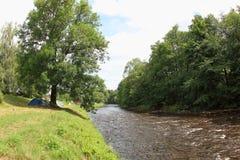 Río de Otava, República Checa imagen de archivo