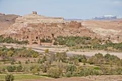 Río de Ounila cerca de AIT Ben Haddou, Marruecos Imagen de archivo libre de regalías