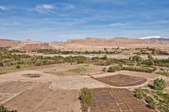 Río de Ounila cerca de AIT Ben Haddou, Marruecos Fotos de archivo