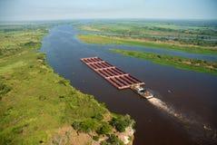 Río de Paraguay foto de archivo
