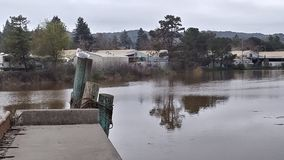 Río de Petaluma imagen de archivo libre de regalías