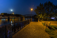 Río de Praga en la noche San Pedro y Pauls Foto de archivo libre de regalías