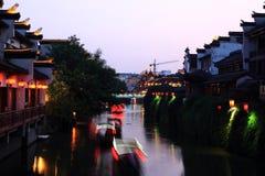 Río de Qinhuai Imagenes de archivo