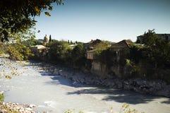 Río de Rioni, Kutaisi, Georgia Imagen de archivo libre de regalías
