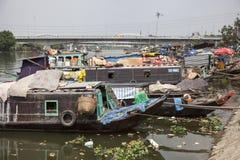 Río de Saigon en Vietnam Foto de archivo libre de regalías