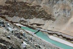 Río de Sangam Foto de archivo libre de regalías