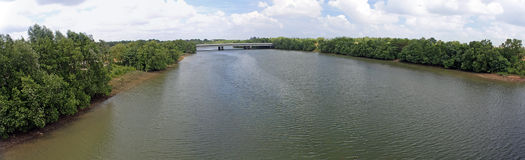 Río de Sengkang en Singapur Imagenes de archivo