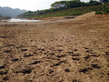 Río de sequía Fotos de archivo