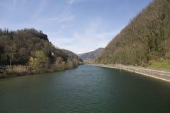 Río de Serchio Imágenes de archivo libres de regalías