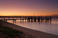 Río de Shoalhaven en el amanecer Fotos de archivo