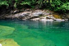 Río de Skykomish Imagenes de archivo