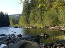 Río de Snoqualmie Imagenes de archivo