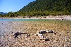 Río de Soca en Eslovenia, Europa Imagen de archivo libre de regalías