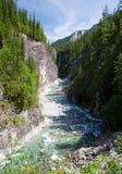 Río de Sumak - montañas sayan - Buriatia Rusia Fotos de archivo libres de regalías