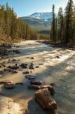 Río de Sunwapta Imágenes de archivo libres de regalías