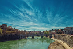 Río de Tever a Roma Foto de archivo