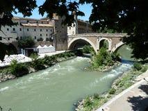 Río de Tiber. Fotos de archivo libres de regalías
