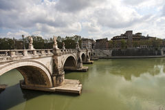 Río de Tiber en Roma Imagenes de archivo