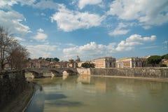 Río de Tiber, Roma, Italia Fotos de archivo libres de regalías