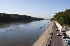 Río de Tisza Imagen de archivo libre de regalías